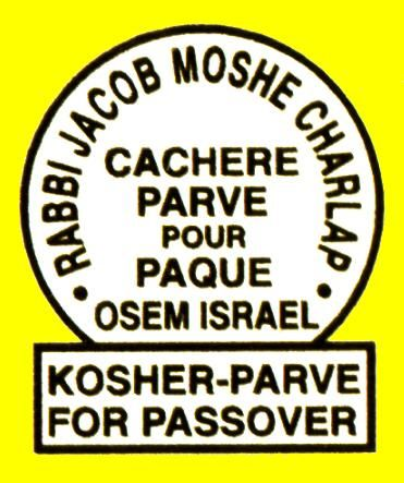 Hechshers Food Certification According To Jewish Religious Law