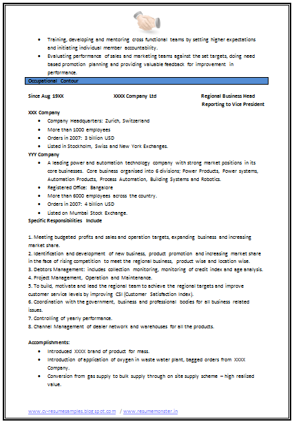 mechanical engineering resume format  page 2