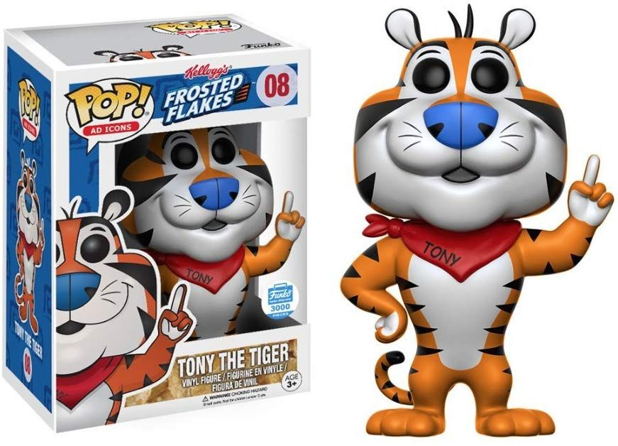 Funko Pop Ad Icons 08 Frosted Flakes Tony The Tiger Le 3000 Funko Shop Exclusive Funko Pop Dolls Funko Pop Toys Pop Toys