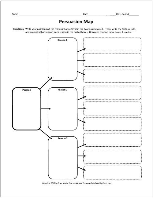 These free graphic organizers include webs for preparing to write