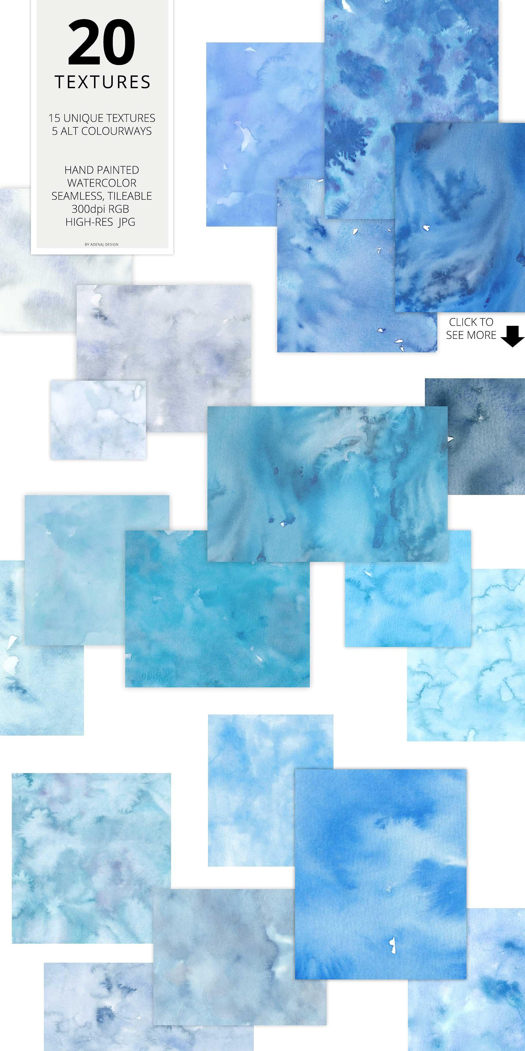 20 Huge Seamless Watercolor Textures By Adenaj On Creativemarket