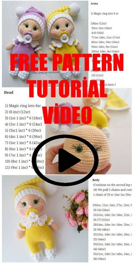 Amigurumi Doll Pacifier Baby Free Crochet Pattern - Crochet.msa.plus