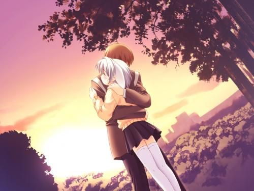 anime couple hugging in the rain really cool anime pinterest