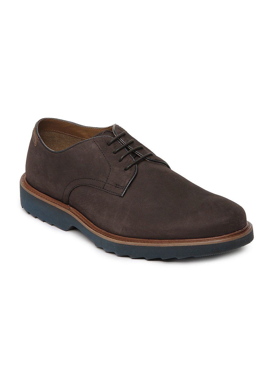 Buy Clarks Men Brown Fulham Walk Leather Casual Shoes - 632 - Footwear for  Men -