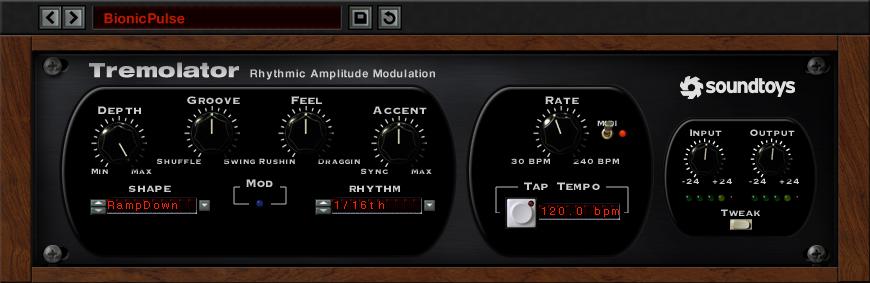 Tremolator Soundtoys Slate digital, Dark matter, Sound