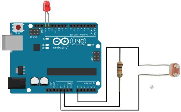 how to build a night light circuit using an arduino schemetic for rh pinterest com