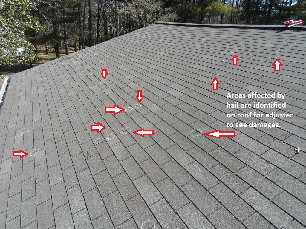 Free Hail U0026 Roof Damage Inspection Atlanta. Hail Damage Roof Repair,  Estimate To Fix