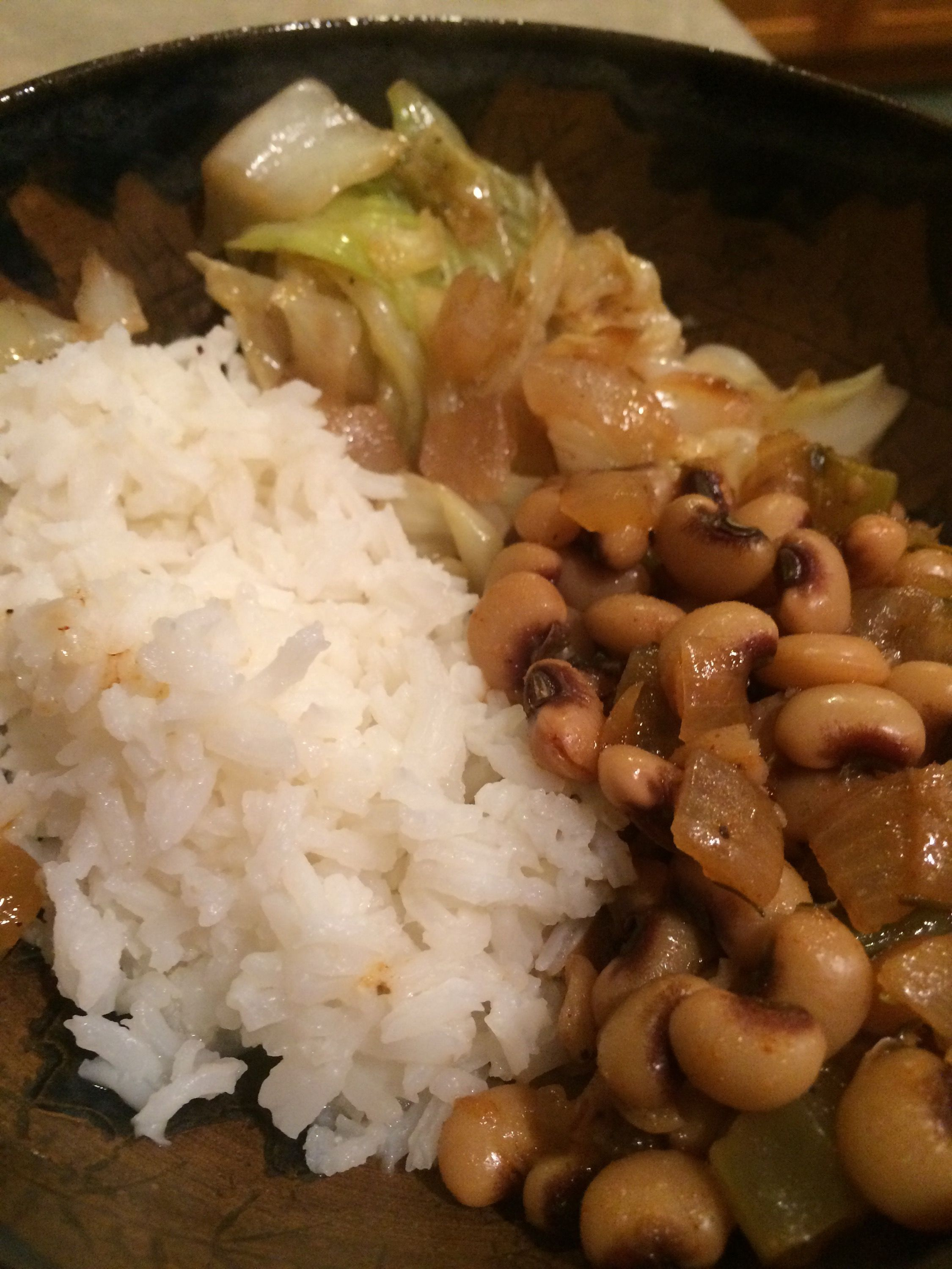 Vegan New Years Black Eyed Peas And Cabbage Beans And