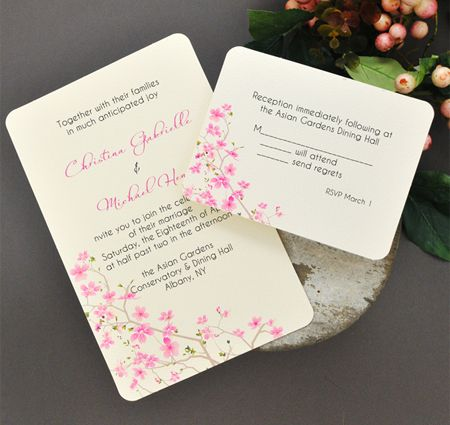 image about Printable Invitations Kit identify Cherry Blossom Do it yourself Invitation Package Wedding ceremony Stationery
