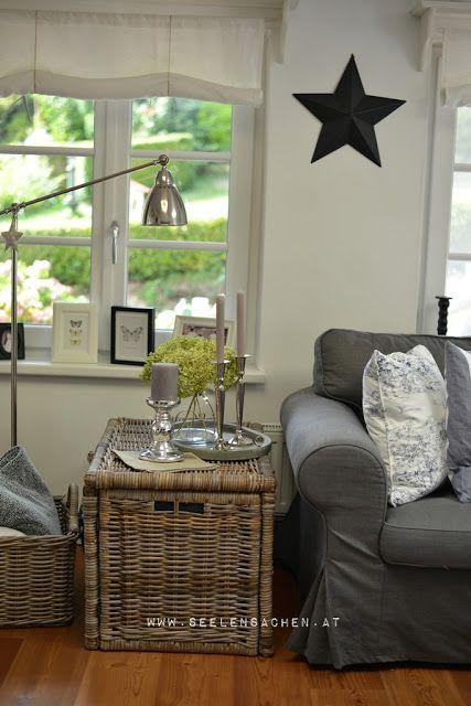SeelenSachen September im Wohnzimmer Home sweet home - Gardinen Landhausstil Wohnzimmer