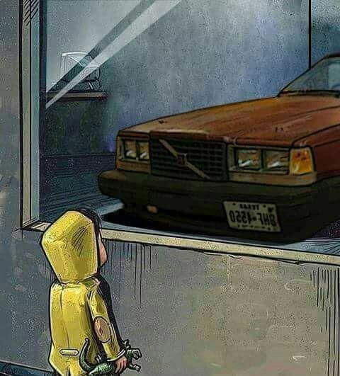 Картинка ребенок смотрит на машину