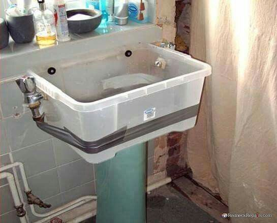Explore Bath Room, Funny Things, And More! Temporary Sink