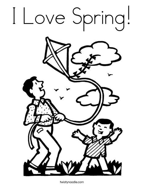 I Love Spring Coloring Page Spring Coloring Pages I Love My Dad Coloring Pages
