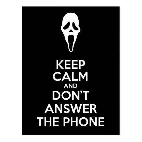 Keep Calm Horror 3 Postcard
