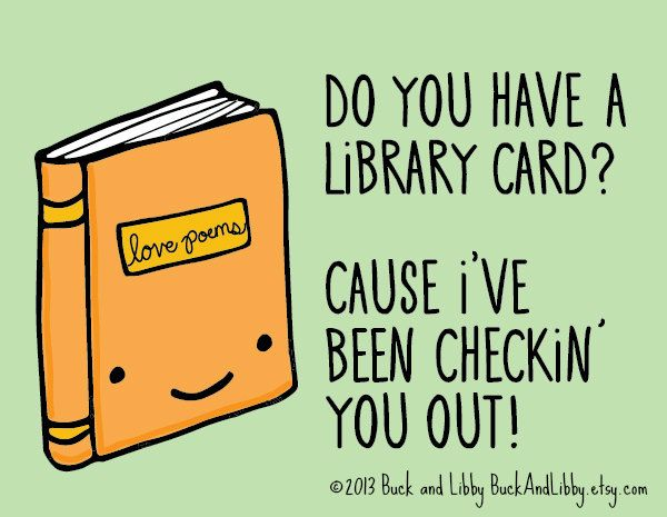 Library Card Pick Up Line Card With Envelope Blank Inside Book