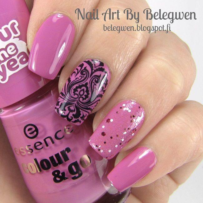 Nail Art By Belegwen: Essence Purple Sugar & Lovely, maybe