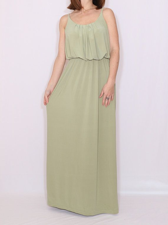 252c6a12e009 these dresses are available in lots of gorgeous colours - Sage green dress  Bridesmaid dress Pale green Long by dresslike on Easy