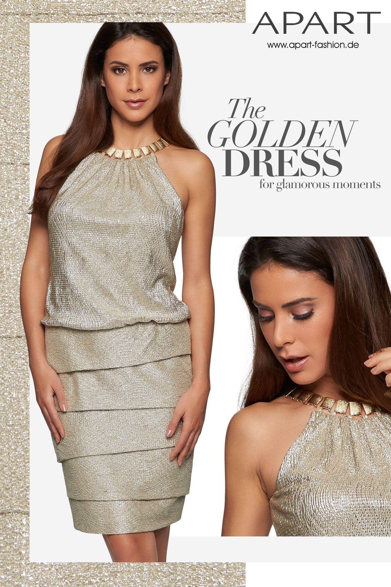 Zum goldenen Kleid: http://www.apart-fashion.de/abendmode