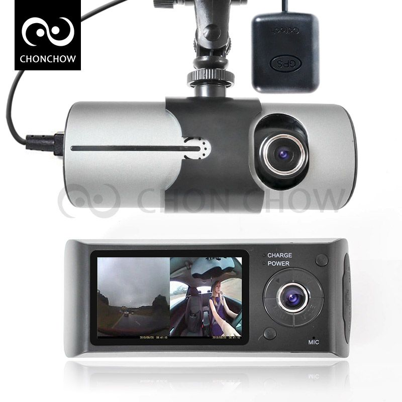 X3000 видеорегистратор 2 hd камеры gps