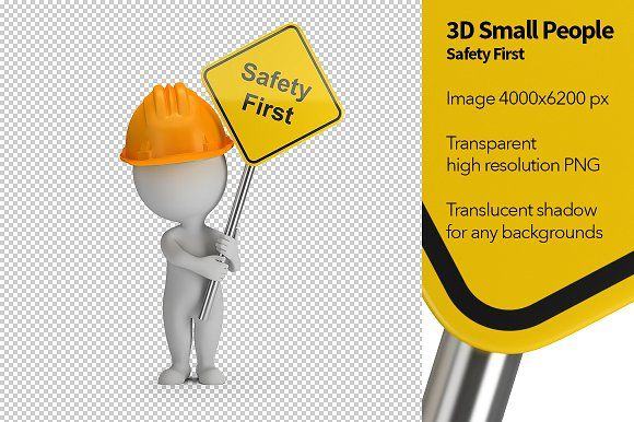 3d Small People Safety First Safety First Graphic Design Portfolio Safety
