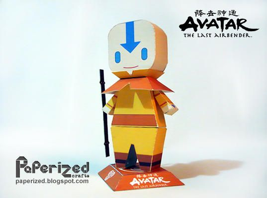 Avatar: The Last Airbender - Aang the Avatar Free Paper Toy Download ...