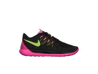 64dd15bf9d0f Nike Free 5.0 Women s Running Shoe.Black Hyper Pink Anthracite Volt ...