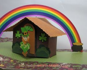 Leprechaun Pop Up House Tutorial Paper Crafts Spring Crafts For Kids Origami Architecture