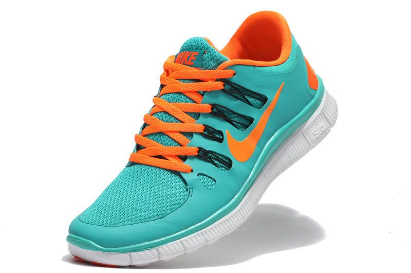 nike free run turquoise trainers on biggest