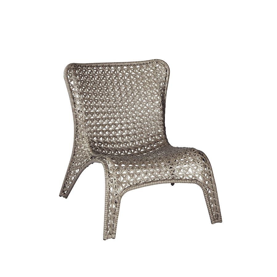 Shop garden treasures tucker bend gray woven seat steel patio dining chair at lowes com