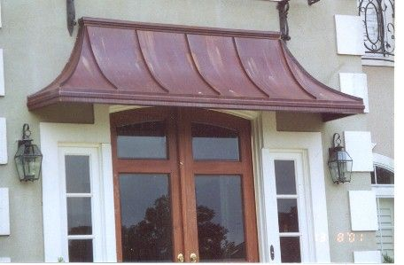 Copper Sweep Awning Clean Slate New Ideas House