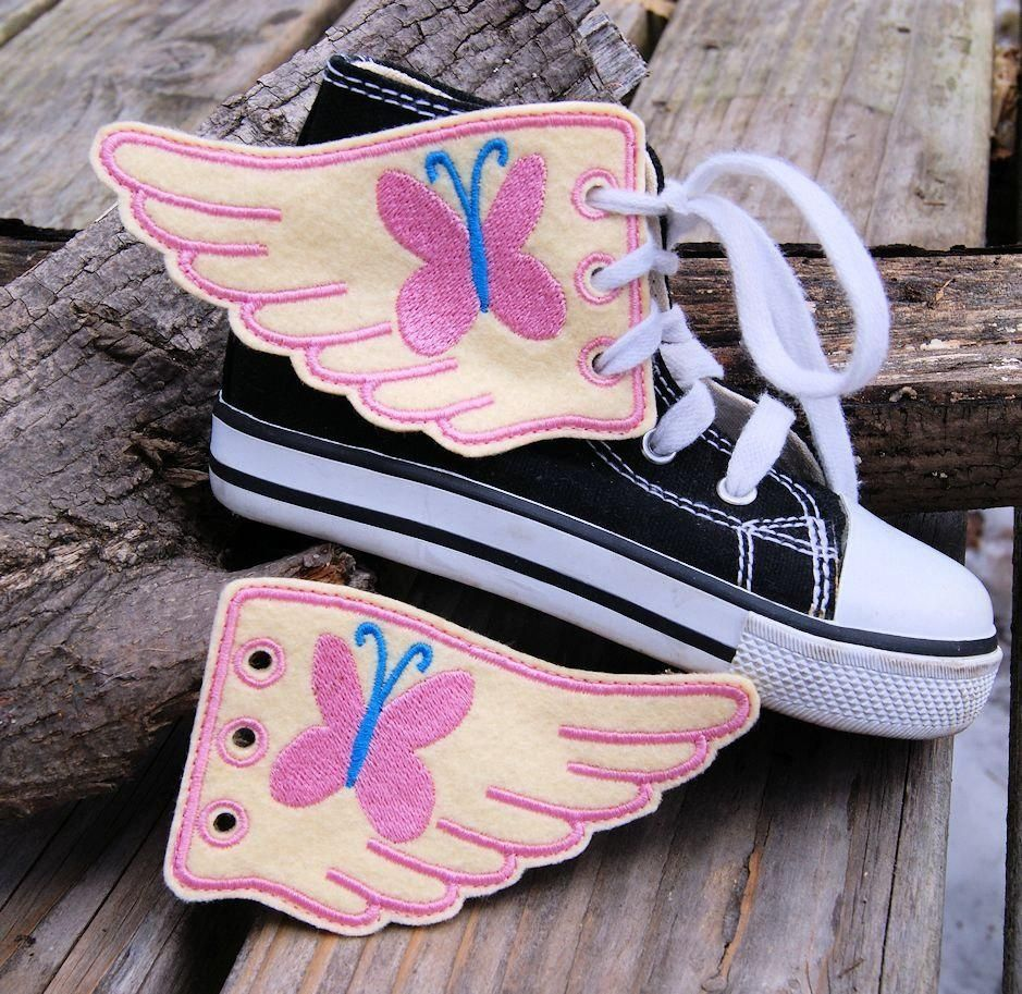 My Little Pony Fluttershy Embroidered Shoe Wings