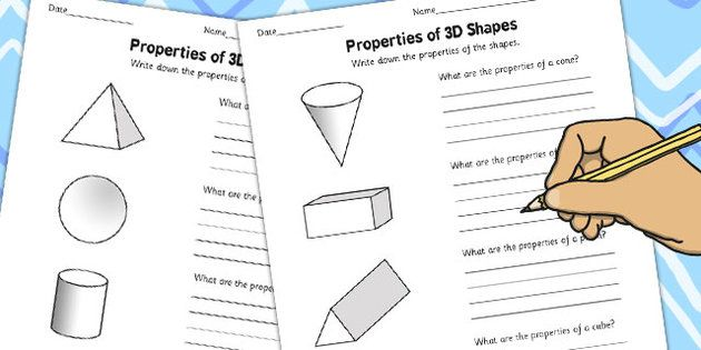 Year 6 Properties of 3D Shapes Activity Worksheets - shapes ...