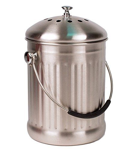 Stainless Steel Kitchen Countertop Compost Bin Review Stainless