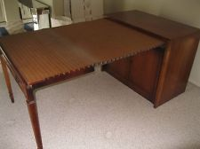 Pull Out Dining Table Amazing Rare Mid Century Modern Vintage