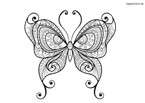 Schmetterling Malvorlage Ausmalbilder schmetterling