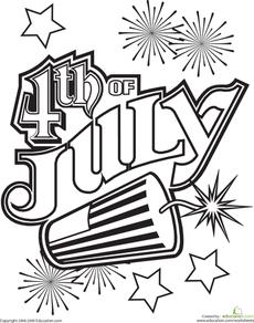 4th of July Coloring Page   Färben, 4. Juli und Malvorlagen