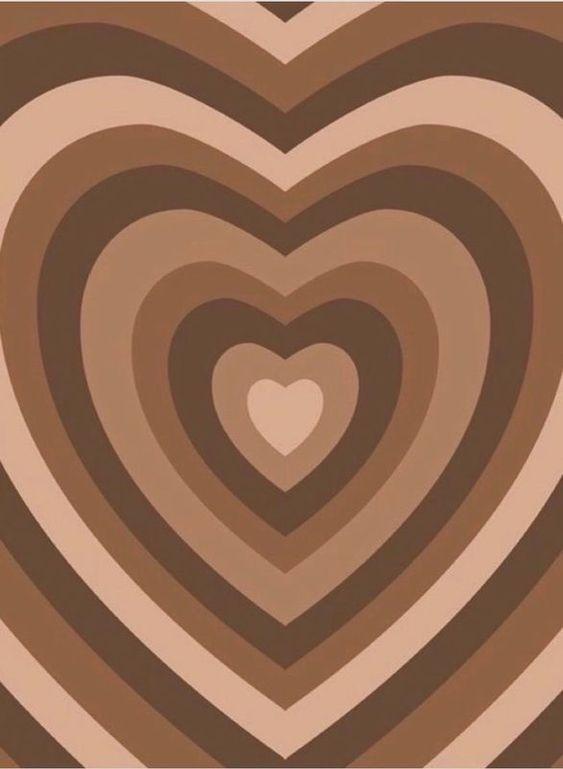 brown heart wallpaper