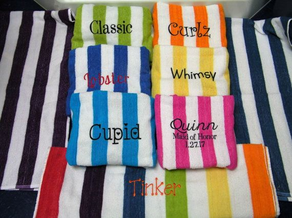 Personalized Beach Towels Kids Bridesmaid Gifts Adults