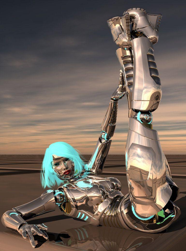 Robot pinup by *Ean-Sze on deviantART