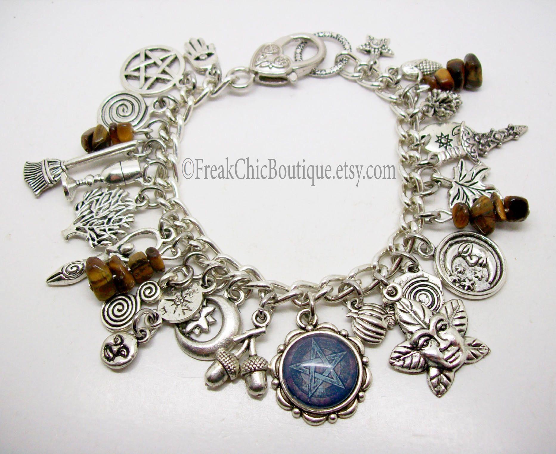 Pagan Charm Bracelet Silver
