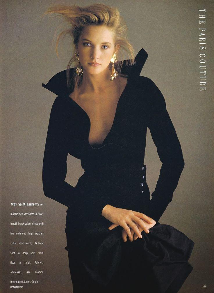 1988 yves saint laurent couture dress in british vogue editorial mode jetzt und damals - 80er damenmode ...