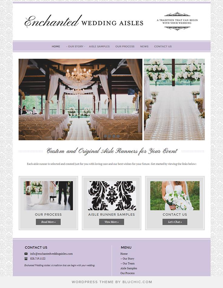 Specialized In Enchanted Wedding Aisles Using Geraldine Wordpress