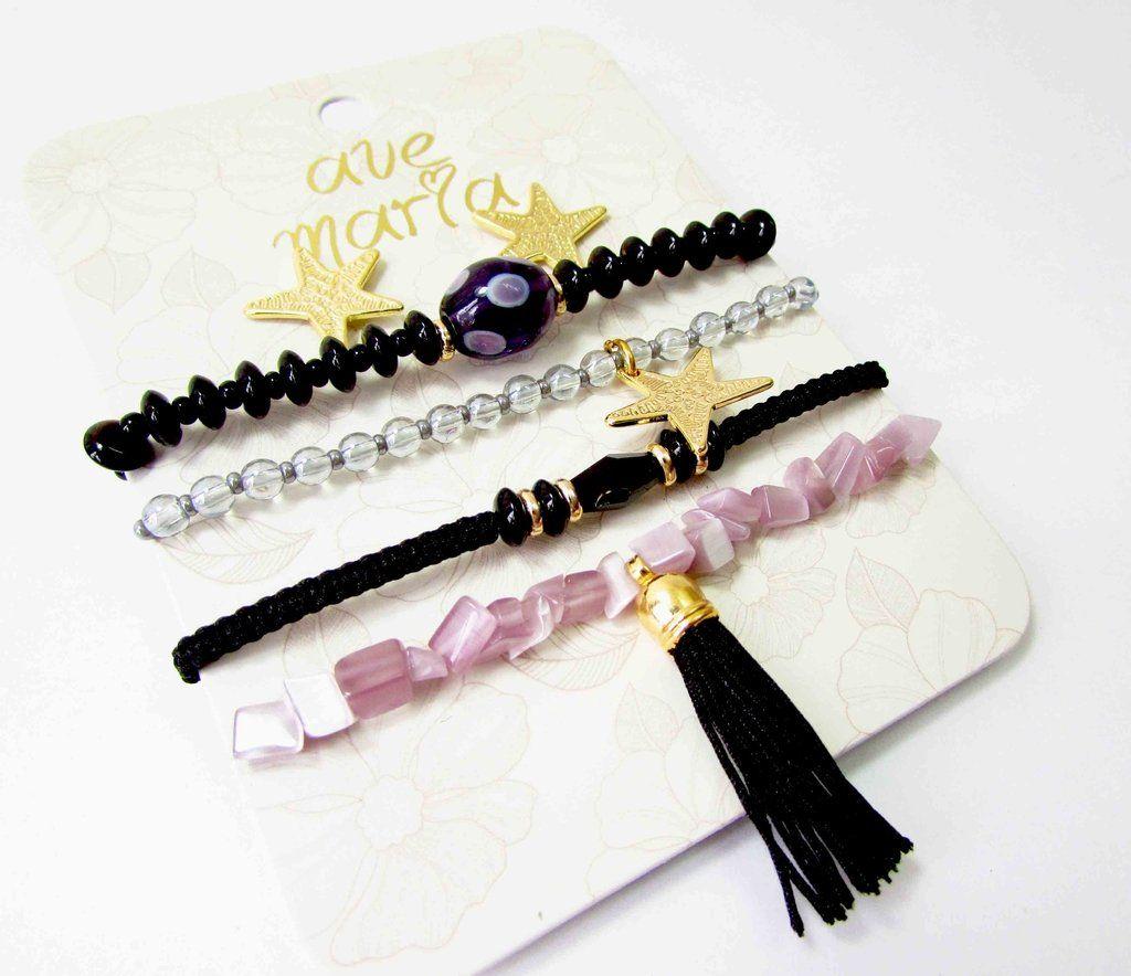 PULSERA ESTRELLAS - Comprar en accesorios Ave Maria