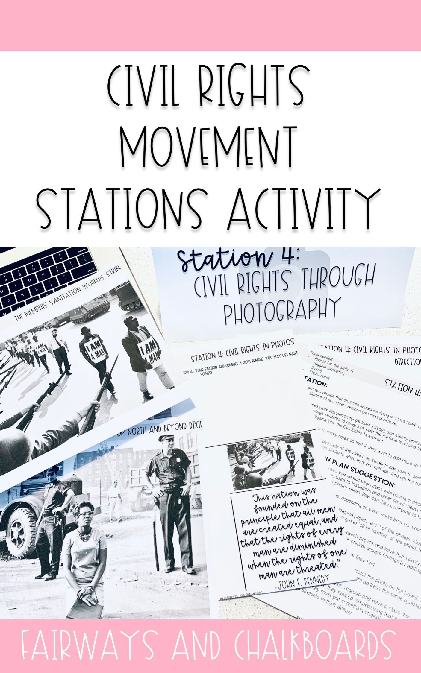Civil Rights Movement Stations Activity With Images