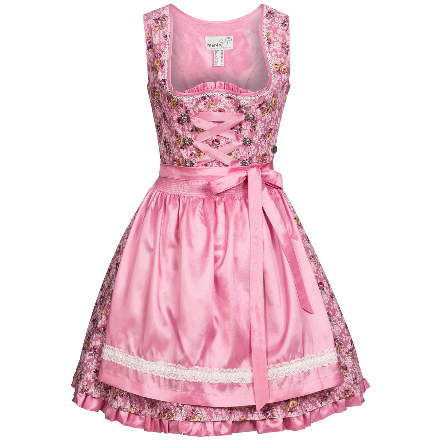 This Photo Will Open Big If You Click Through The Apron Uses Tight Smocking To Create The Gathers I Also Like The Small Ruffle A Dirndl Dirndl Rosa Modestil