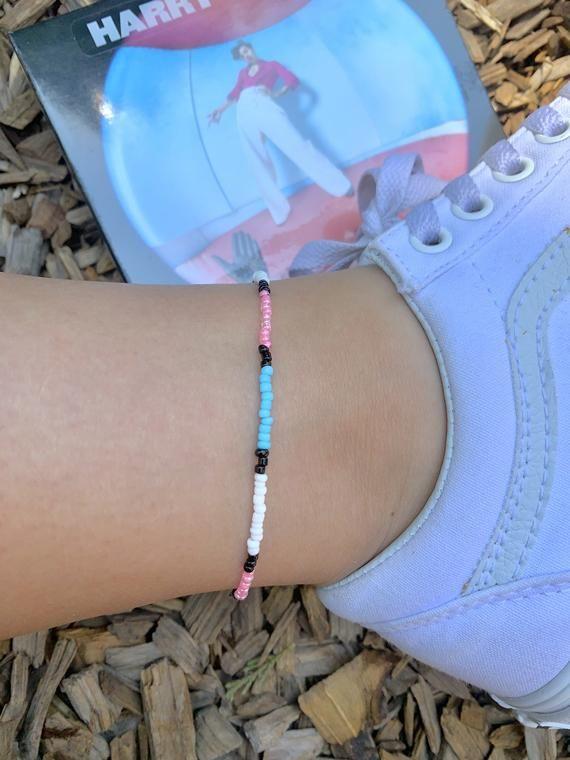 Harry styles fine line beaded anklet bracelet (read description)