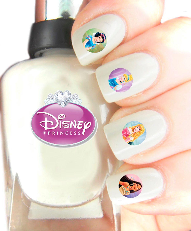 Disney Princess Nail Art Decal stickers . Nail Art Wraps Easier to ...