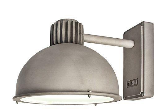 Raz frezoli industriële buitenlamp in grijs aluminium zink