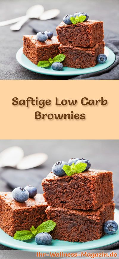 Photo of Fast, juicy brownies – low-carb recipe without sugar