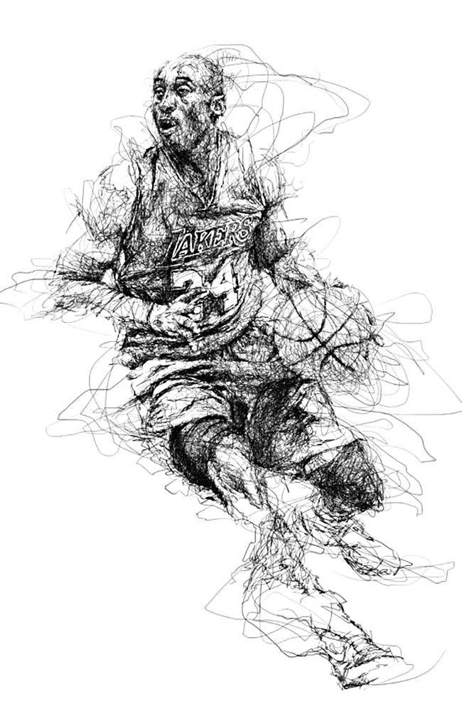 Nba Basketball Art Collection With Images Basketball Art